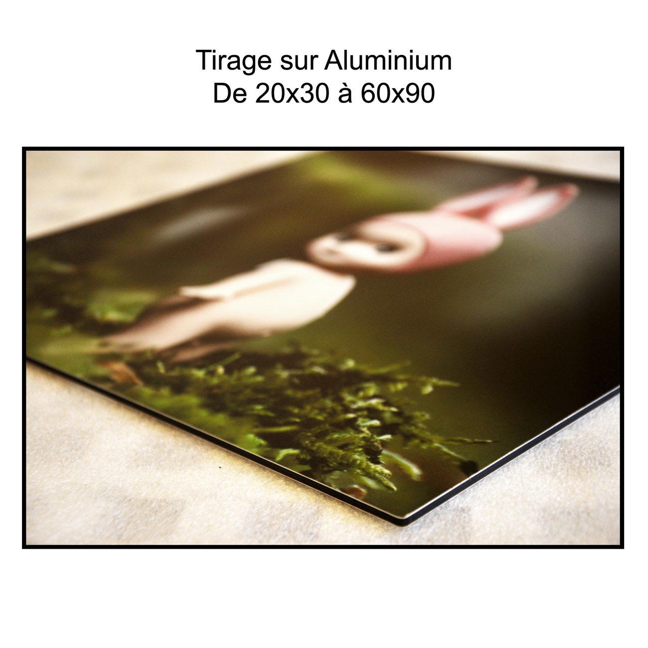 Tirage sur aluminium carre
