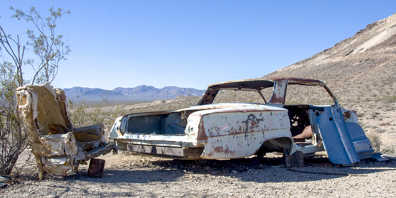 Car in Ghost Town III 40x80 1