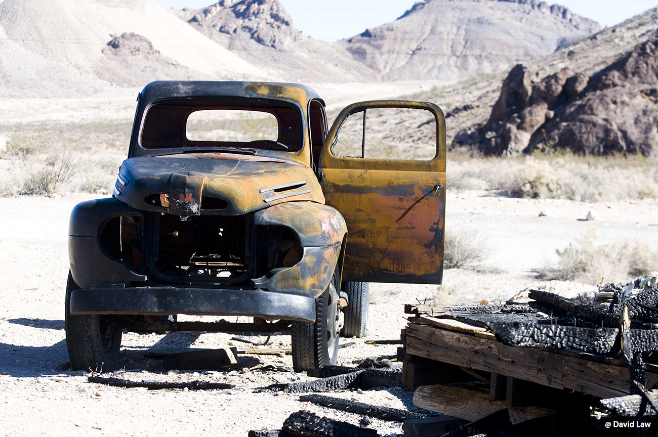Car in Ghost Town